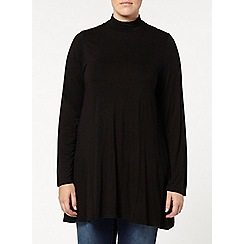 Evans - Black roll neck swing tunic