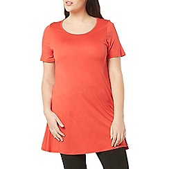 Evans - Red short sleeves swing tunic