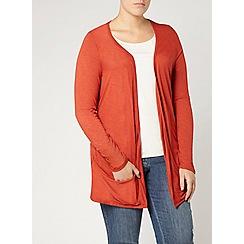 Evans - Orange jersey cardigan