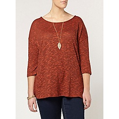 Evans - Orange and black knitted top