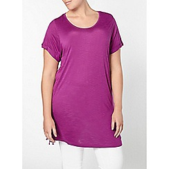 Evans - Purple lace up side tunic