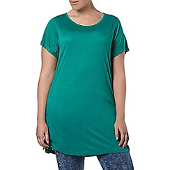 Evans - Green lace up side tunic