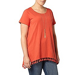 Evans - Orange tassel t-shirt