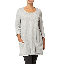 Evans - Grey soft touch pocket tunic