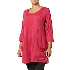 Evans - Pink soft touch pocket tunic