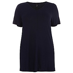 Evans - Navy busty swing top