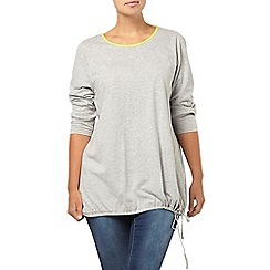 Evans - Grey cross back top