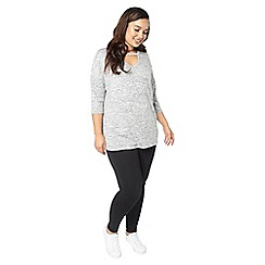 Evans - Grey cut out top