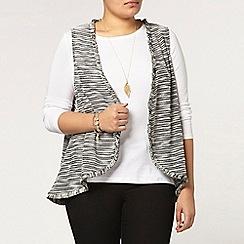 Evans - Black and white sleeveless cover up