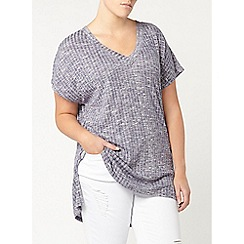 Evans - Blue rib side split top