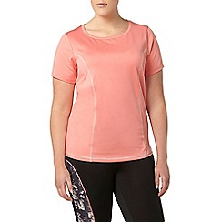 Evans - Coral activewear t-shirt