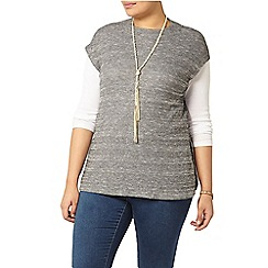 Evans - Grey ribbed turtle neck