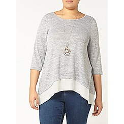 Evans - Grey double layer tunic