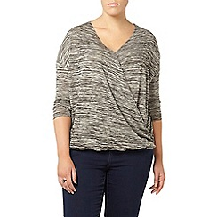Evans - Grey wrap top