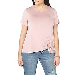 Evans - Pink tie side knot top