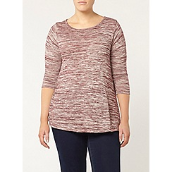 Evans - Red side split tunic