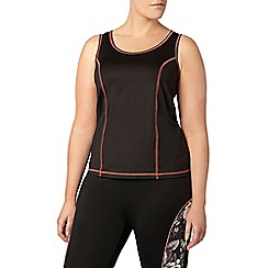 Evans - Black activewear vest top