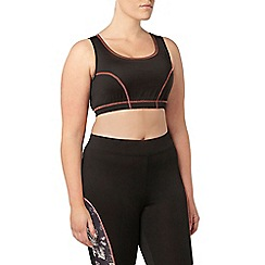 Evans - Black activewear crop top