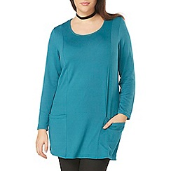 Evans - Green busty soft touch tunic