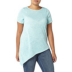 Evans - Turquoise aysmmetric top