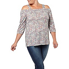 Evans - Ivory paisly gypsy top