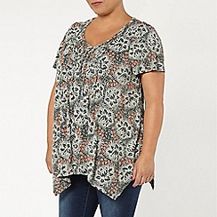 Evans - Green floral honeycomb top