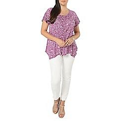 Evans - Purple floral print top