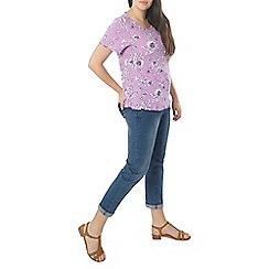 Evans - Lilac print t-shirt