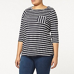 Evans - Navy striped sweat