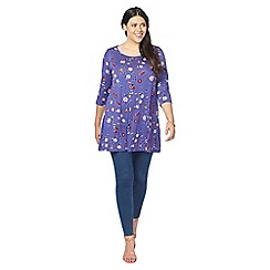 Evans - Purple floral swing  tunic