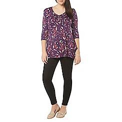 Evans - Purple busty fit floral top