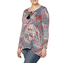 Evans - Red and blue paisley tunic