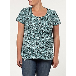 Evans - Short sleeve gypsy top