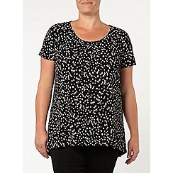 Evans - Black printed honeycomb top