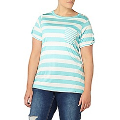 Evans - Turquoise blue striped t-shirt