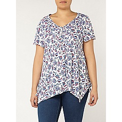 Evans - White floral print top