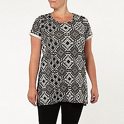 Evans - Black and white side split top