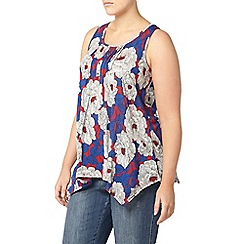 Evans - Red floral sleeveless top