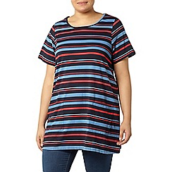 Evans - Striped short sleeve tunic