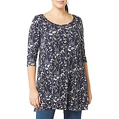 Evans - Navy blue printed tunic