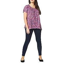 Evans - Purple floral print top