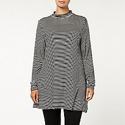 Evans - Black/white stripe swing tunic