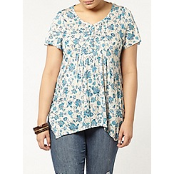 Evans - Ivory printed busty fit top