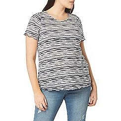 Evans - Navy blue and white stripe t-shirt