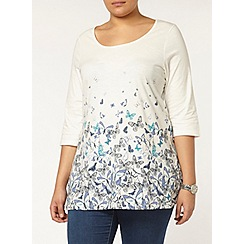 Evans - Butterfly print busty fit top