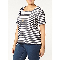 Evans - Striped square neck t-shirt