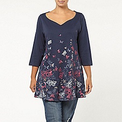 Evans - Navy butterfly border top