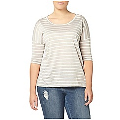 Evans - Grey striped top