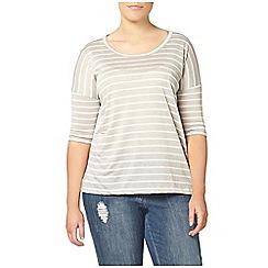 Evans - Grey striped top