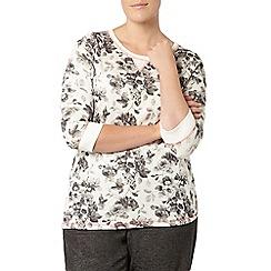 Evans - Ivory printed sweatshirt